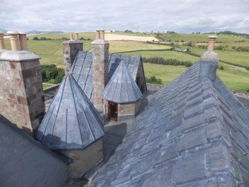 Leadwork - Borthwick castle 2